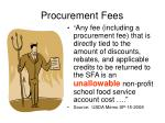 procurement fees