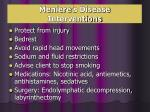 meniere s disease interventions