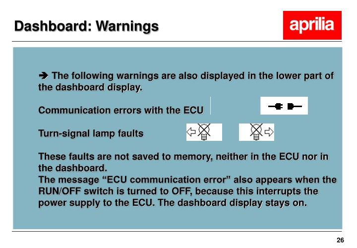 Dashboard: Warnings