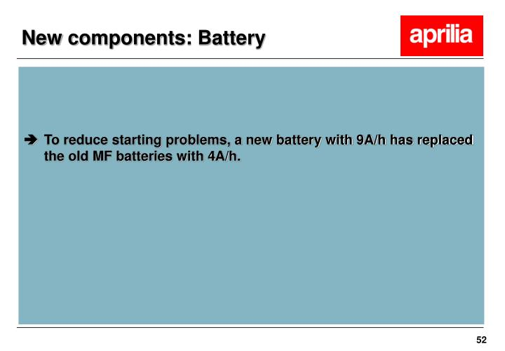 New components: Battery