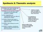 synthesis 2 thematic analysis