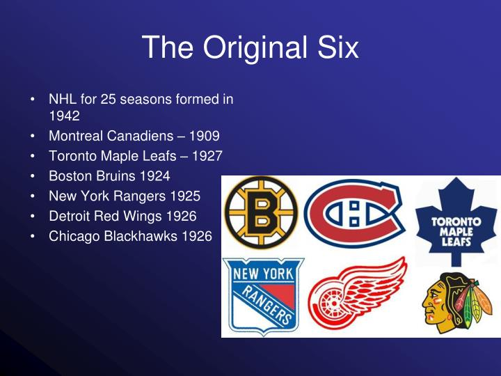 NHL for 25 seasons formed in 1942
