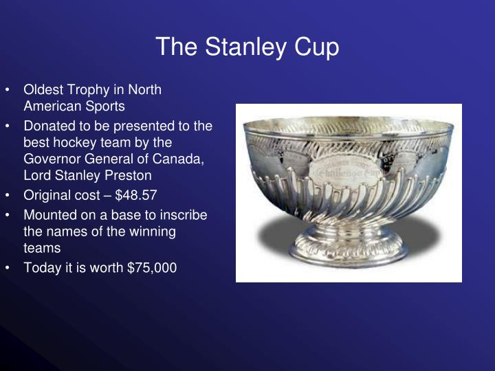 Oldest Trophy in North American Sports