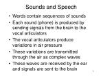 sounds and speech