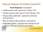 how to dispose of chicken manure