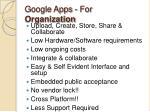 google apps for organization
