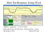 slow tau response losing 50 ua