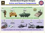 standardized brigade designs active and reserve components