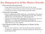 key management in ad hoc wireless networks