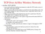tcp over ad hoc wireless network3