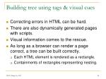 building tree using tags visual cues