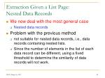 extraction given a list page nested data records