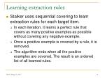 learning extraction rules