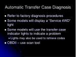 automatic transfer case diagnosis