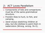 2 act loves parallelism