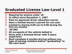 graduated license law level 1