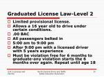 graduated license law level 2