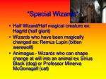 special wizards
