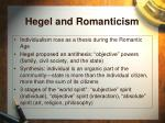 hegel and romanticism
