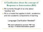 a clarification about the concept of response to intervention rti