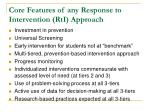 core features of any response to intervention rti approach