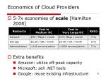 economics of cloud providers