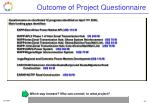 outcome of project questionnaire1