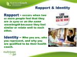 rapport identity