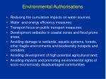 environmental authorisations
