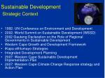 sustainable development strategic context