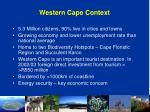 western cape context