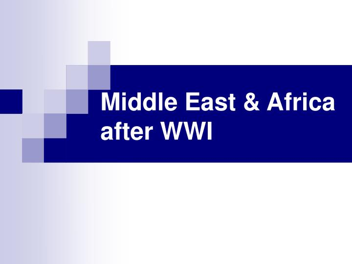 middle east africa after wwi n.