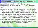 aaaai acaai it safety survey july 2010 july 2011