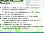 aaaai acaai jtf summary of slit adverse events