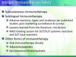 allergen immunotherapy safety