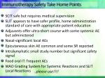 immunotherapy safety take home points