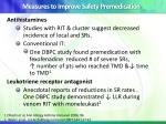 measures to improve safety premedication
