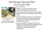 dod strategic spectrum plan 30 november 2005