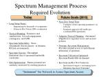 spectrum management process required evolution
