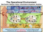 the operational environment net centric warfare vision information anywhere anytime