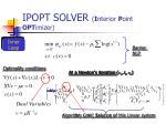 ipopt solver i nterior p oint opt imizer7