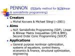 pennon pen alty method for non linear semidefinite programming