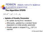 pennon pen alty method for non linear semidefinite programming10