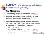 pennon pen alty method for non linear semidefinite programming4