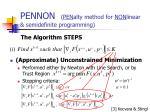 pennon pen alty method for non linear semidefinite programming8