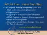 wv pa plan initial first step