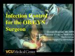 infection control for the ob gyn surgeon