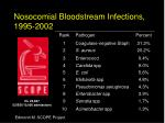nosocomial bloodstream infections 1995 2002