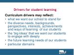 drivers for student learning