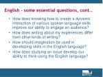 english some essential questions cont